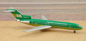 Braniff International 727-200 - Green (1:400), Jet X 1:400 Diecast Airliners Item Number JET031