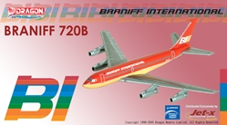 "Braniff International 720 - ""Red"" Flying Colors (1:400), Jet X 1:400 Diecast Airliners Item Number JET111"
