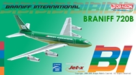 "Braniff International 720 - ""Green"" Flying Colors (1:400), Jet X 1:400 Diecast Airliners Item Number JET113"