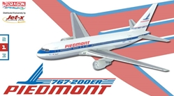 "Piedmont 767-200 - N614P ""City of Los Angeles"" - Fleet (1:400), Jet X 1:400 Diecast Airliners Item Number JET114"