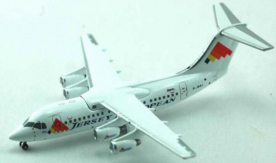 Jersey European Airways BAe 146-100 (1:400), Jet X 1:400 Diecast Airliners Item Number JET368