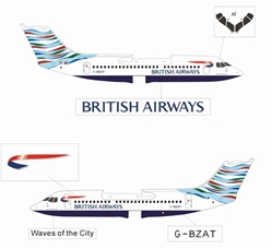 "British Airways BAe-146-300 ""Special Tail - USA"" - G-BZAT (1:400), Jet X 1:400 Diecast Airliners, Item Number JETBA001"
