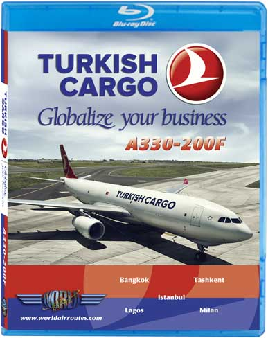 Turkish Airlines Cargo A330-200F (Blu-Ray), Just Planes Aviation Blu-Ray Item Number JPTHY3B