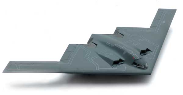 B-2 Stealth (1:72) Bomber Easy Build Model Kit, Easy Build Toy Airplane Models Item Number IN-EZB2
