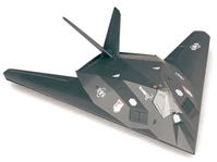 F-117 Stealth (1:72) Easy Build Model Kit, Easy Build Toy Airplane Models Item Number IN-EZF117