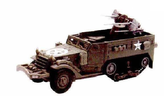 M16 Half Track (1:32) Easy Build Model Kit, Easy Build Toy Airplane Models Item Number IN-EZTA1C