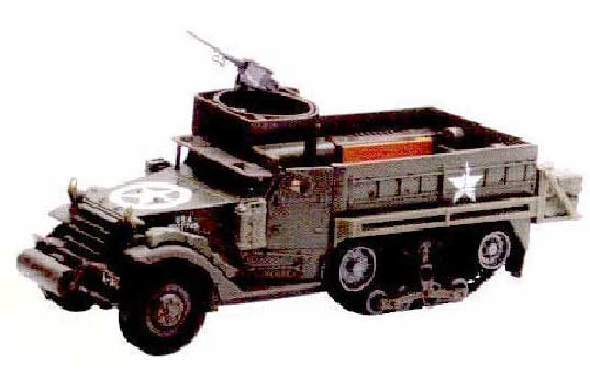 M3A1/2 Half Track (1:32) Easy Build Model Kit, Easy Build Toy Airplane Models Item Number IN-EZTA1D