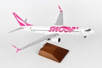 Swoop 737-800 W/WOOD STAND & GEAR (1:100)
