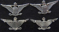 Spanish American War Colonel War Eagles Sterling Silver, Weingarten Gallery Item Number P-2202