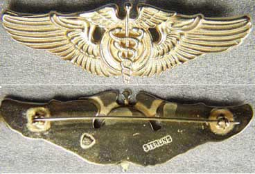 WWII Flight Surgeon WIng Sterling Meyer Gold, Weingarten Gallery Item Number P-1135G