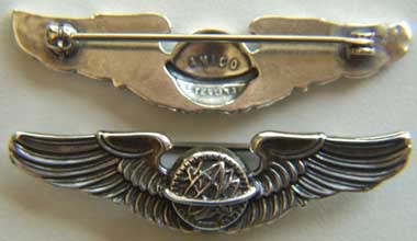 "WWII Navigator Wings Sterling - AAF Aerial Navigation Course 2"", Weingarten Gallery Item Number P-1147"