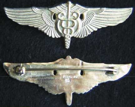 WWII Flight Surgeon Balfour 2 inch, Weingarten Gallery Item Number P-1194G