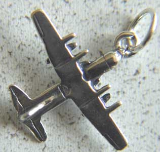 C-130 Charm Sterling Silver, Weingarten Gallery Item Number P-1220