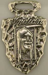 Indian Motorcycle Watch FOB Sterling, Weingarten Gallery Item Number P-1224
