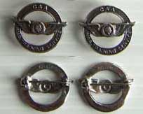 WWII CAA indian Head Collar Insignia sterling, Weingarten Gallery Item Number P-1236
