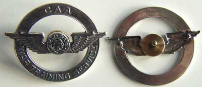 WWII CAA Hat Badge Sterling, Weingarten Gallery Item Number P-1237