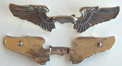 Goodyear 1960's Pilot Wing Sterling, Weingarten Gallery Item Number P-1306
