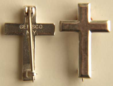 WWII Chaplin Cross Collar Sterling, Weingarten Gallery Item Number P-1307