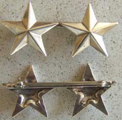 WWII Two Star General Rank Sterling Silver  Clutch Back, Weingarten Gallery Item Number P-1316C