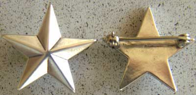 WWII 1 Star General Insignia Sterling, Weingarten Gallery Item Number P-1317