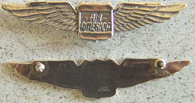 Air America Pilot Wings Sterling, Weingarten Gallery Item Number P-1436