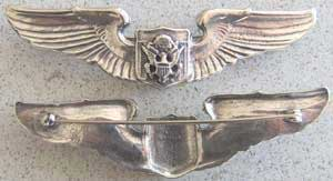 Air Force Officer Aircrew Sterling Prototype Wing, Weingarten Gallery Item Number P-1454