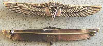 WWII Army Medical Sweetheart Sterling, Weingarten Gallery Item Number P-1458