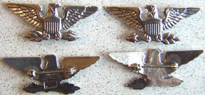 WWII Colonel rank Luxenberg Sterling War Eagle, Weingarten Gallery Item Number P-1460