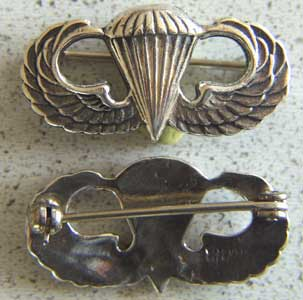 Paratrooper Badge Mess Dress Sterling, Weingarten Gallery Item Number P-1568P