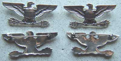 WWII Colonel War Eagles Oversized 2 inch Sterling, Weingarten Gallery Item Number P-1606