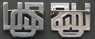 USO -WWII Pin Sterling, Weingarten Gallery Item Number P-1641