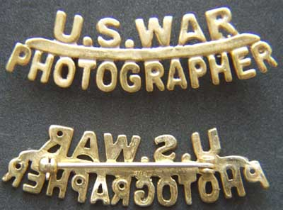WWII War Photographer Sterling w Gold Plate, Weingarten Gallery Item Number P-1652G