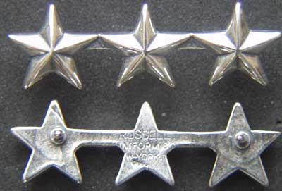 WWII 3 Star Collar Sterling, Weingarten Gallery Item Number P-1664