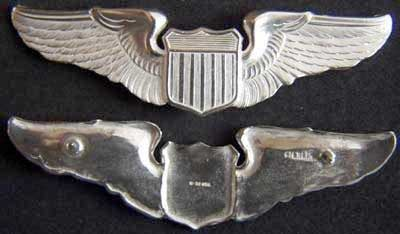 "USAF Pilot Wing Sterling Silver - 3"" for Class A Uniform, Weingarten Gallery Item Number P-1680"
