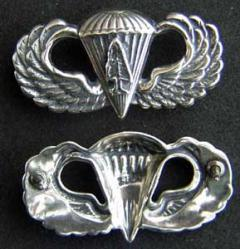US Forect Service Smoke Jumper Badge Sterling, Weingarten Gallery Item Number P-1892