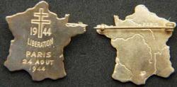 Paris Libration WWII Sterling pin, Weingarten Gallery Item Number P-1964P