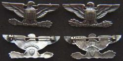 Myer Shoulder Form USMC Pin Back Oxidized, Weingarten Gallery Item Number P-1979P
