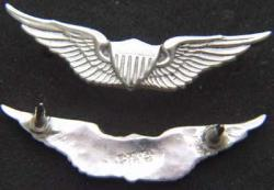 US Army  Pilot Wing Mess Dress Sterling Silver, Weingarten Gallery Item Number P-1983