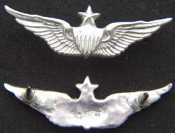 US Army Senior Pilot Wing Mess Dress Sterling Silver, Weingarten Gallery Item Number P-1984