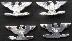Vietnam Colonel Collar Insignia Sterling Set of three, Weingarten Gallery Item Number P-2018-3A