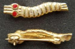 WWII Parachute Caterpillar Pin sterling w gold plate, Weingarten Gallery Item Number P-2027