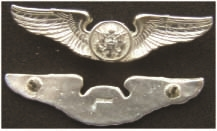USAF Aircrew Wing 2 inch current design Sterling, Weingarten Gallery Item Number P-2052B