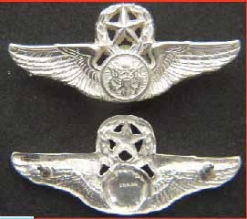 USAF Master Aircrew Wing shirt current issue Sterling, Weingarten Gallery Item Number P-2054