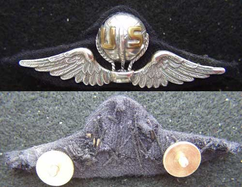 WWI Balloon Pilot French Design Sterling, Weingarten Gallery Item Number P-2115
