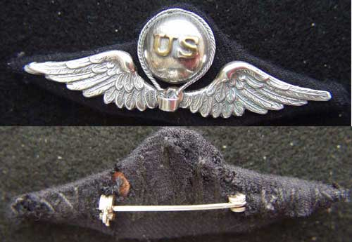 WWI Balloon Pilot French Design Sterling, Weingarten Gallery Item Number P-2116