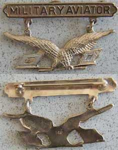 1913 Military Aviator 14k Gold, Weingarten Gallery Item Number P-50-14