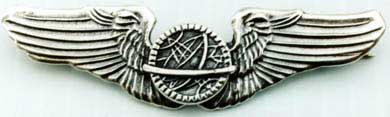 WWII Navigator Wings Sterling, Weingarten Gallery Item Number P-693