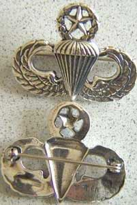 Master Paratrooper Badge Sterling, Weingarten Gallery Item Number P-776