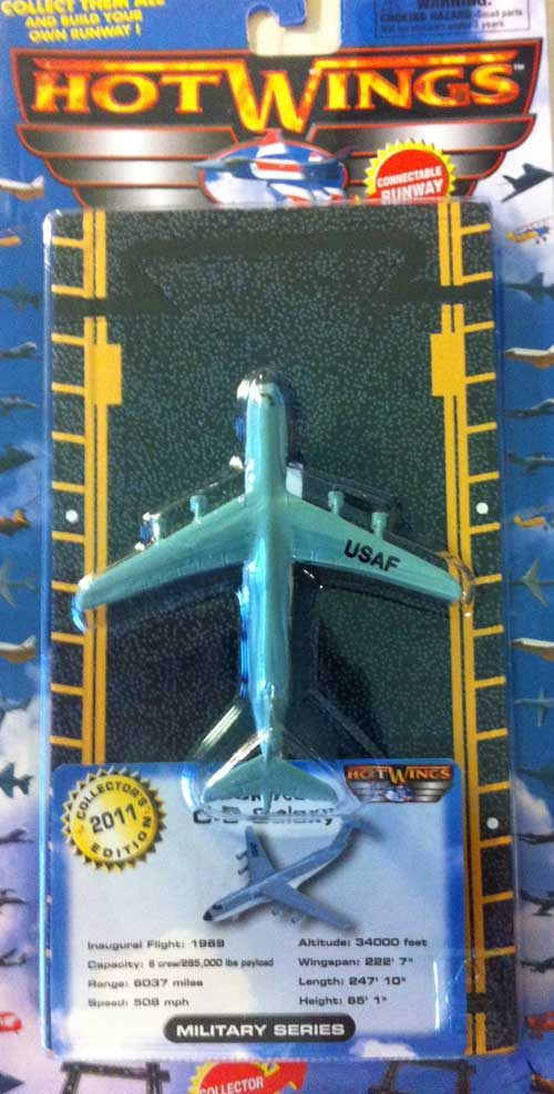 "C-5 Galaxy (Approx. 5""), Hot Wings Toy Airplanes Item Number HW14148"