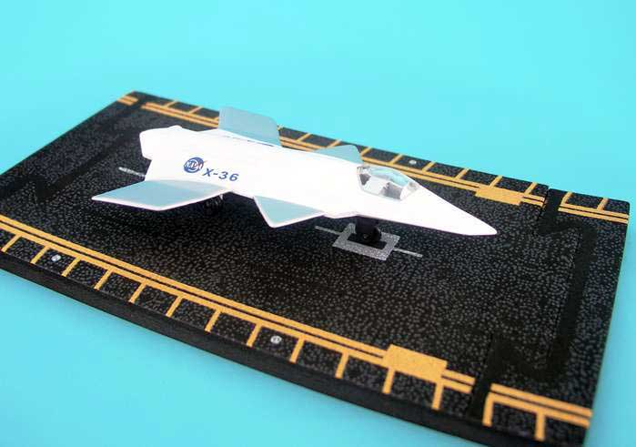 "X-36 White and Silver (4.Approx. 5""), Hot Wings Toy Airplanes Item Number HW12112"